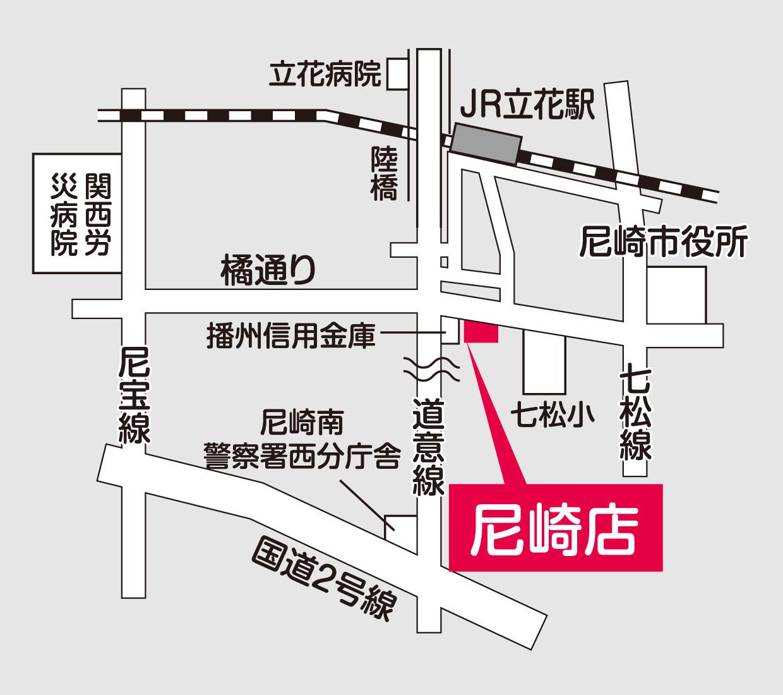 阪神補聴器センター 尼崎店地図